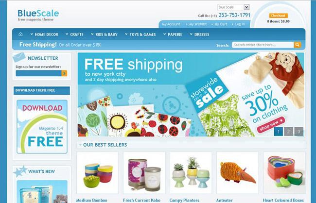 适合用于家居装饰和手工艺品网站的magento模板下载