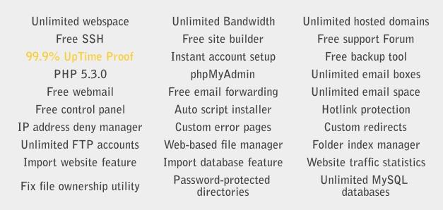 一个免费的PHP空间,支持SSH,这个很难见