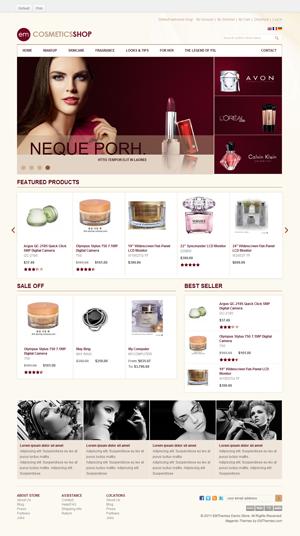 EM Cosmetics Shop Magento异常精美购物商城主题模板[荐]