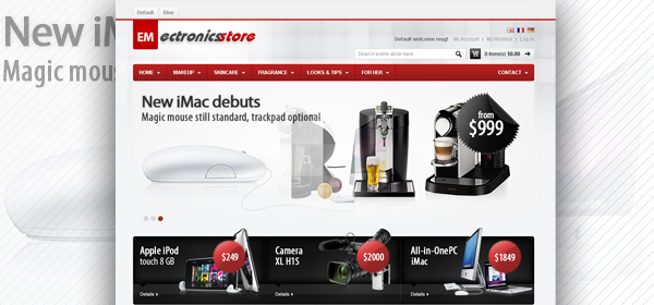 EM Electronics Magento 3C产品购物商城主题模板