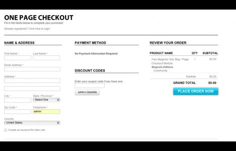 Magento插件推荐 官网扩展 单页结账一步结账 IWD Free One Page / Step Checkout