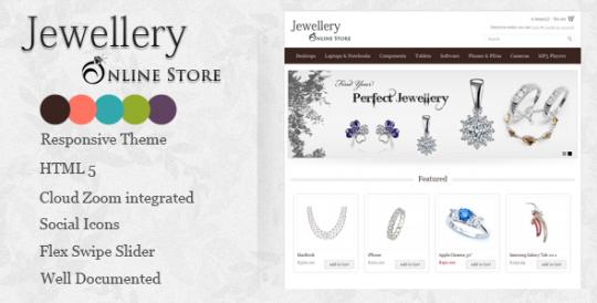 Jewellery 珠宝购物 Opencart主题
