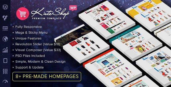 KuteShop 多用途WooCommerce购物商城 WordPress主题 v1.4.1